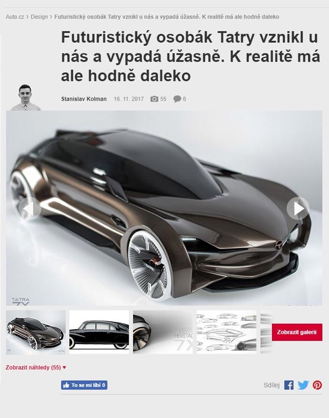 Jak by mohla vypadat moderní limuzína od Tatry? Český designér nabízí odpověď